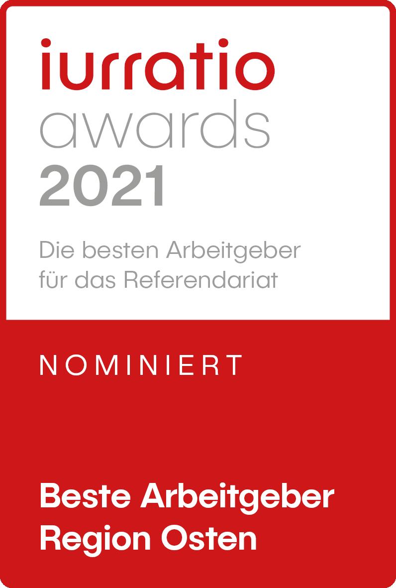 irruation award 2021 Bester Arbeitgeber Region Ost